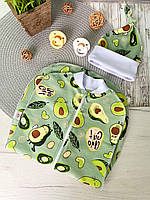"""Теплая пеленка-кокон """"авокадо"""" двунитка с начесом"""