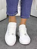 Кожаные белые кеды 7259-28, фото 6