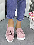 Туфли лоферы замша пудра 7267-28, фото 5