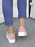 Туфли лоферы замша пудра 7267-28, фото 6