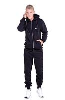 Костюм Спортивный мужской Найк, Nike черный, Спортивные костюмы Nike на флисе S - XXL Черный