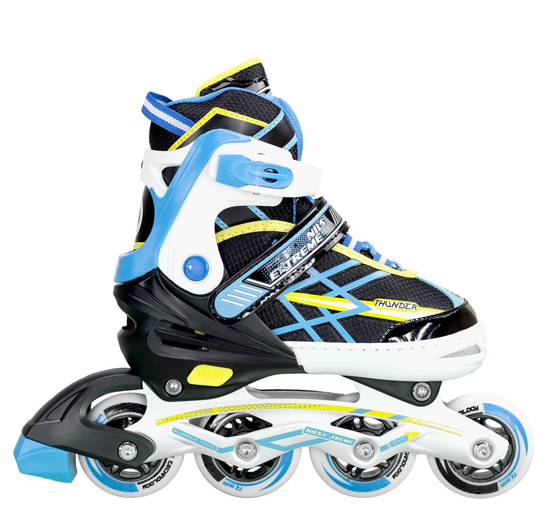 Купить Роликовые коньки и лыжероллеры, Роликовые коньки Nils Extreme NA1160A Size 31-34 Black/Blue