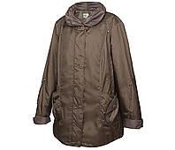 Куртка демисезонная женская большого размера р66, р68, р70 капучино длинная весна осень Mirage