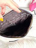 Поясная сумочка Банана🍌 с широким текстильным ремешком бежевая женская, фото 7