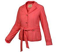 Ветровка пиджак куртка женская хлопковая коралловая весна лето City Classic