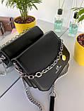 Женский клатч Чарльз и Кейт Beauty на цепочке черный ЧКБ568, фото 4