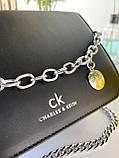 Женский клатч Чарльз и Кейт Beauty на цепочке черный ЧКБ568, фото 9