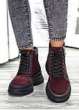 Ботинки бордо замша Aleksa 7521-28, фото 4