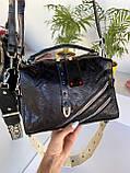Женская сумка Valery с широким ремешком черная СВ93, фото 2