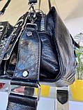 Женская сумка Valery с широким ремешком черная СВ93, фото 5