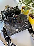 Женская сумка Valery с широким ремешком черная СВ93, фото 7