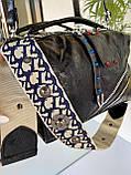 Женская сумка Valery с широким ремешком черная СВ93, фото 8