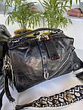 Женская сумка Valery с широким ремешком черная СВ93, фото 9