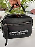 Женская сумка David Jones Sporty черная СДС24, фото 8