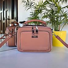 Женская сумка кросс-боди М темная пудра СМФ88