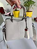 Женская сумка Love на три отделения серая СЛТ47, фото 8