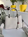 Женская сумка Love на три отделения серая СЛТ47, фото 9