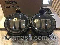 ВТФ LED Протитуманні фари ВАЗ 2170 2-х режимні білий+жовтий SAL-MAN 50W