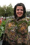 Майя 372-22, павлопосадский платок (шаль) из уплотненной шерсти с шелковой вязаной бахромой, фото 4