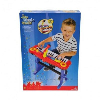 """Музыкальный инструмент """"Клавишные-парта"""" с микрофоном, стулом, свет. эффектами, 55 см, 3 683 8629"""