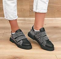 Женские туфли Aquamarin черные кожаные