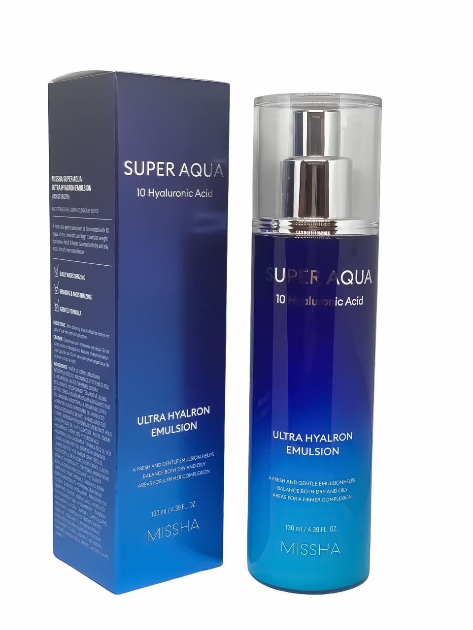 Эмульсия для лица с гиалуроновой кислотой Missha Super Aqua Ultra Hyalron emulsion