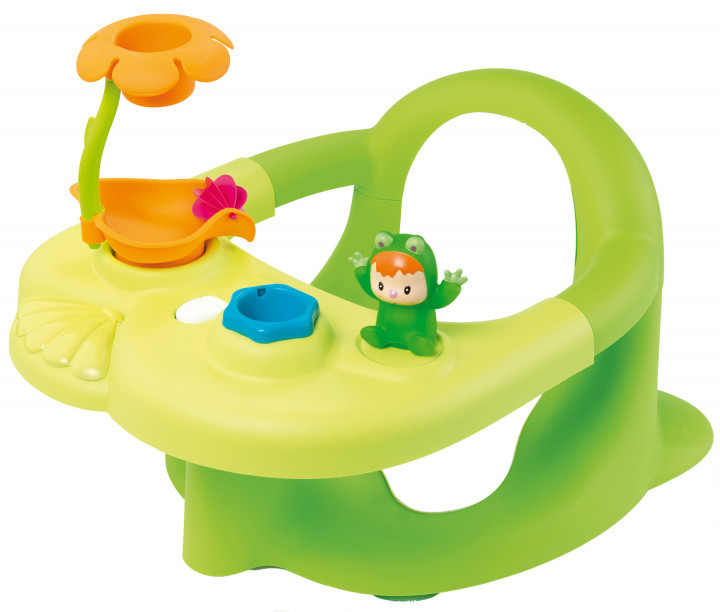 Стульчик для купания Cotoons с игровой панелью, зеленый, 6 мес. + 110615