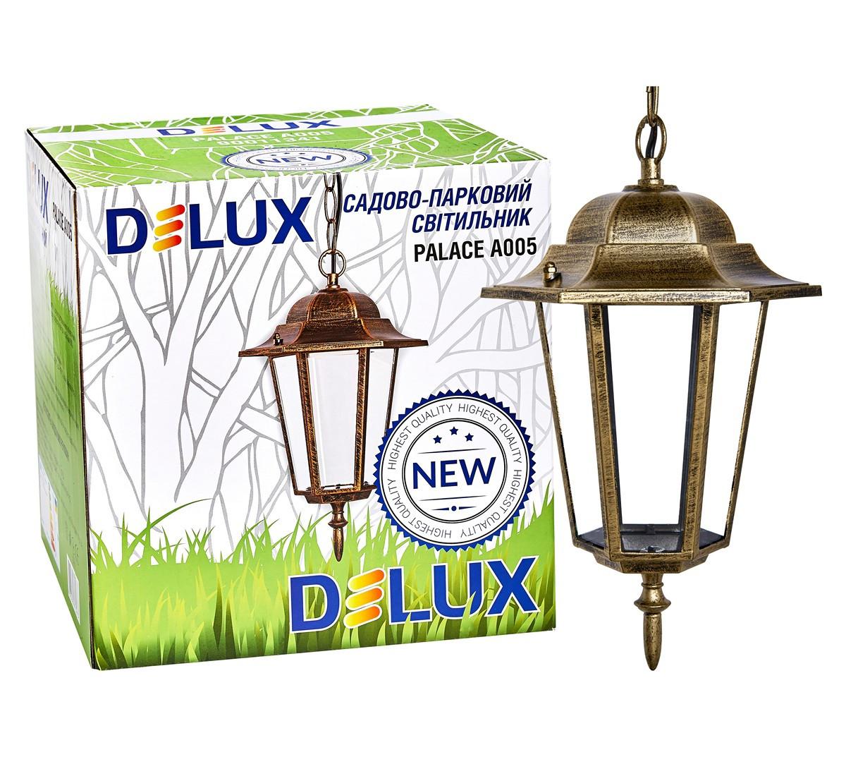 Светильник садово-парковый PALACE A005 60Вт Е27 черный-золото