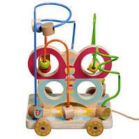 "Лабиринт-каталка ""Бабочка"", Lucy&Leo, деревянные игрушки,деревянные игрушки развивающие,сотер"