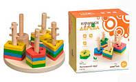 Логический круг-сортер, игрушки для малышей,сотер,деревянные игрушки,деревянный конструктор