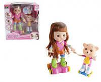 """Интерактивная кукла роллер """"BIBI"""" с мишкой, Mei Yie, куклы,игрушки для девочек,детские игрушки"""