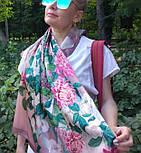 Шовковий хустку 10801-2, павлопосадский платок шовковий (атласний) з подрубкой, фото 8