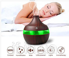 Освіжувач повітря mini usb humidifier 7 led color change