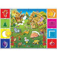 На ферме VT1603-01 (рус.), детские развивающие настольные игры,игрушки для малышей,детская настольная