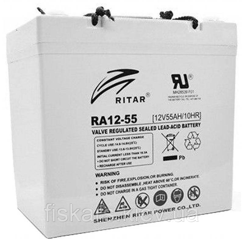 Аккумуляторная батарея RITAR RA12-55, 12V 55.0Ah