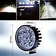 Яркая LED фара + СТРОБОСКОП без задержки включения ( 12 LED, 12V, 24 Вт, 6500K ), фото 6