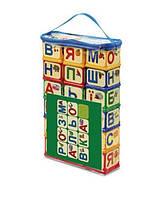 Кубики «Азбука с разукрашкой» укр. 70606, игрушки для малышей,сотер,деревянные игрушки,самых маленьких