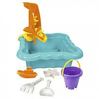 Набор для песка и воды с мельницей 7 эл. (Бирюзовый) 39699, игрушки в песочницу,игрушки для улицы,игрушки для