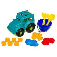 """Сортер-трактор """"Кузнечик"""" №3 C0343, игрушки в песочницу,игрушки для улицы,игрушки для малышей,песочные наборы"""