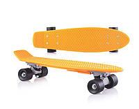 Игрушка детская «Скейт» 0151/2 оранжевый , без подсветки, детский скейт,скейт,пенни борд