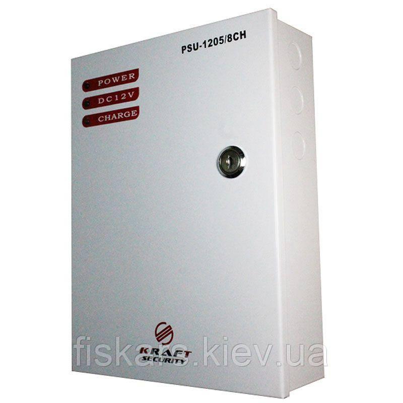 Блок питания импульсный Kraft PSU-1205LED/8CH