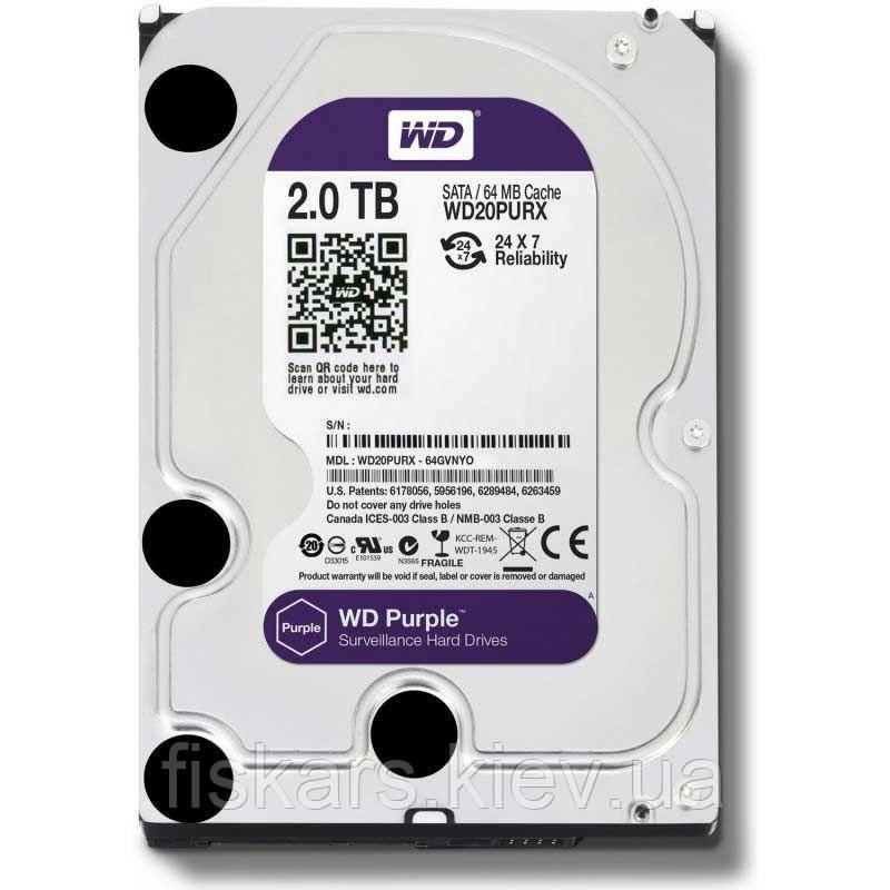 Жесткий диск Western Digital Purple 2TB 64MB WD20PURX 3.5 SATA III