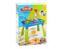 Песочница-столик М 1313, игрушки в песочницу,игрушки для улицы,игрушки для малышей,песочные наборы