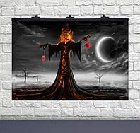 Плакат для свята Halloween ніч 75×120см англ