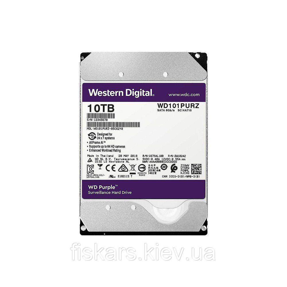 Жесткий диск Western Digital Purple 10TB 256MB 7200rpm WD101PURZ 3.5 SATA III