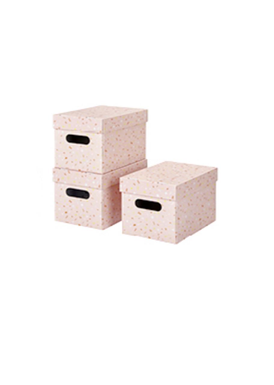 Органайзер для хранения вещей (3шт) Rex 16,9х16,1х24,9см Розовый