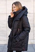Зимняя женская куртка  оверсайз с сьемным капюшоном рр 46-56, фото 3