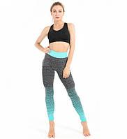 Леггинсы для фитнеса Fitness Street Pistacho M-L NHJ00376 Серо-бирюзовый (tau_krp240_00376)