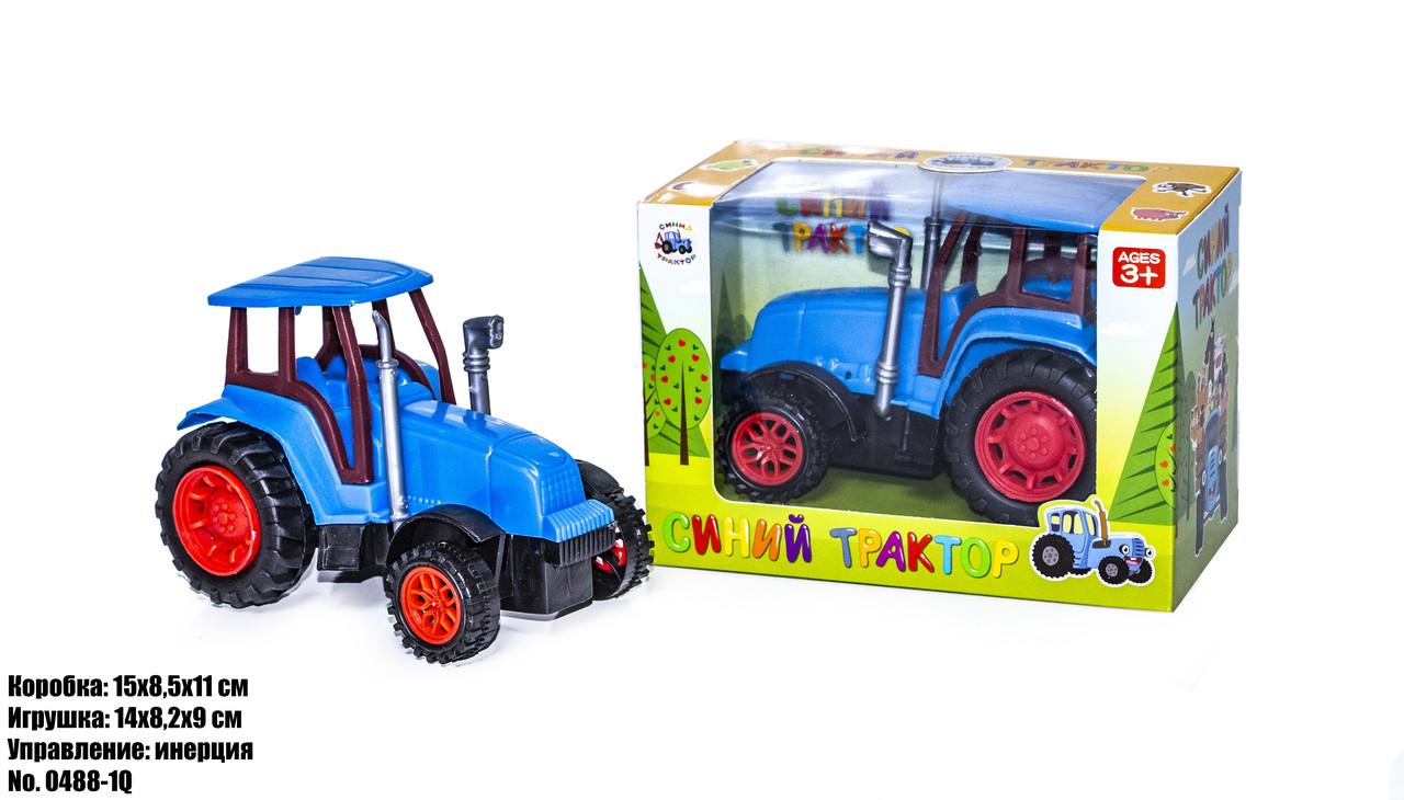 Синий трактор в блистере 0488-1Q оптом