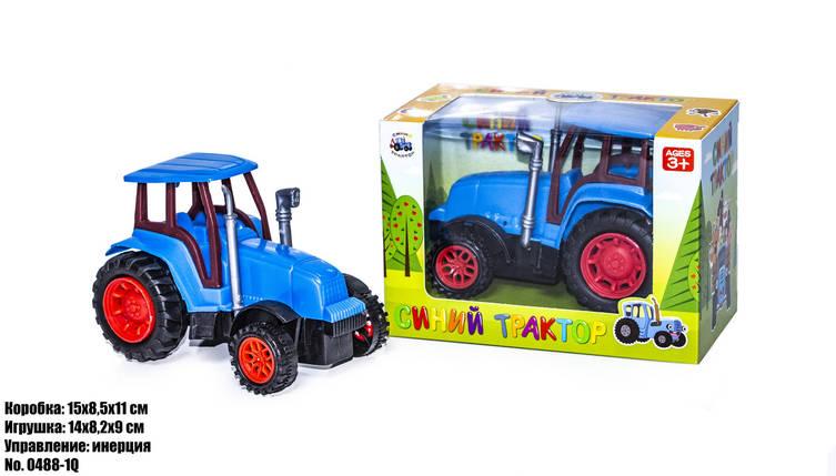 Синий трактор в блистере 0488-1Q оптом, фото 2